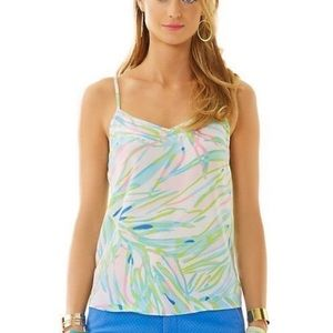 LILLY PULITZER Silk colorful print blouse